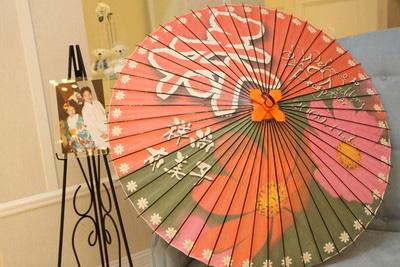和傘のウェルカムボード